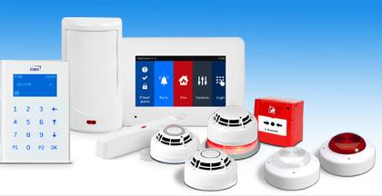 alarme, intrusion, fire alarm