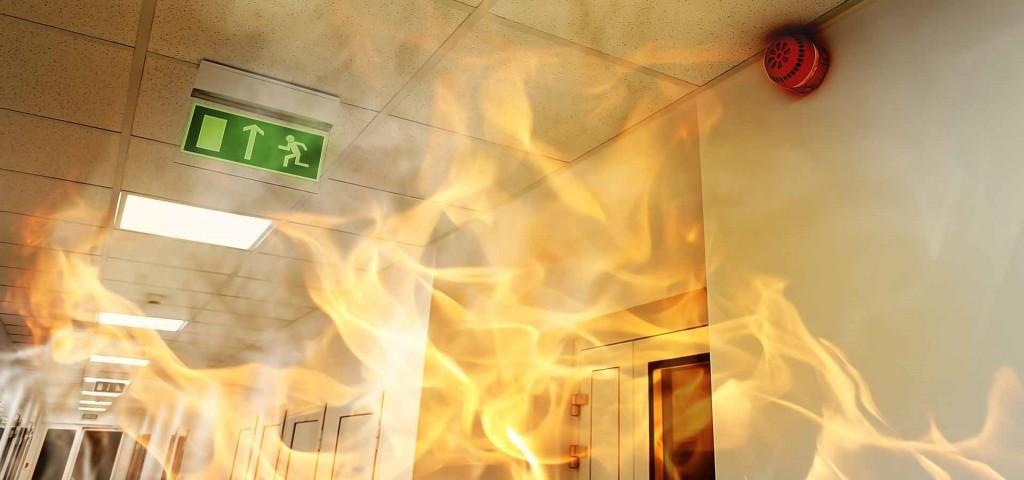 couloir en feu